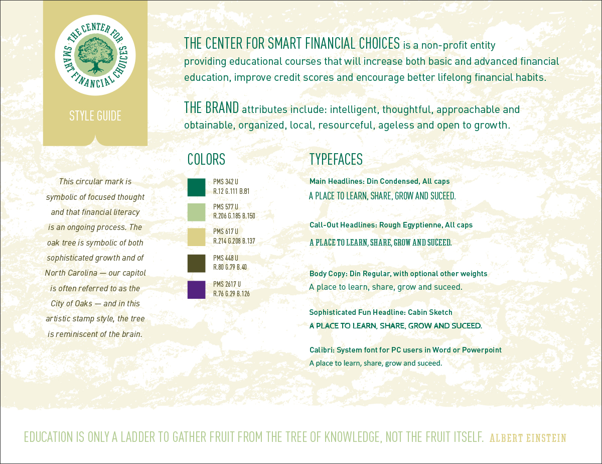 Center for Smart Financial Choices StyleGuide