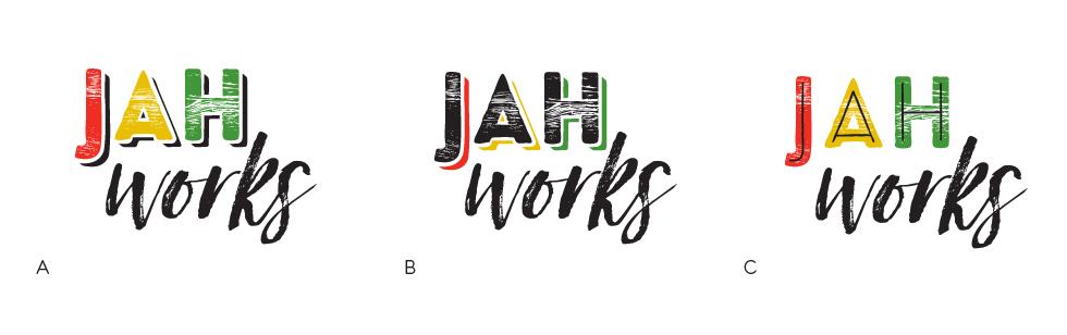 Jah Works Logo Options Color