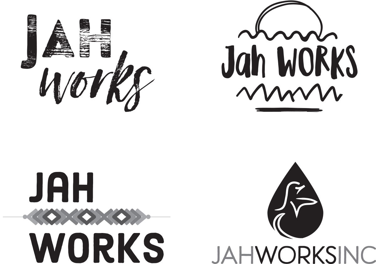 Jah Works Logo Options