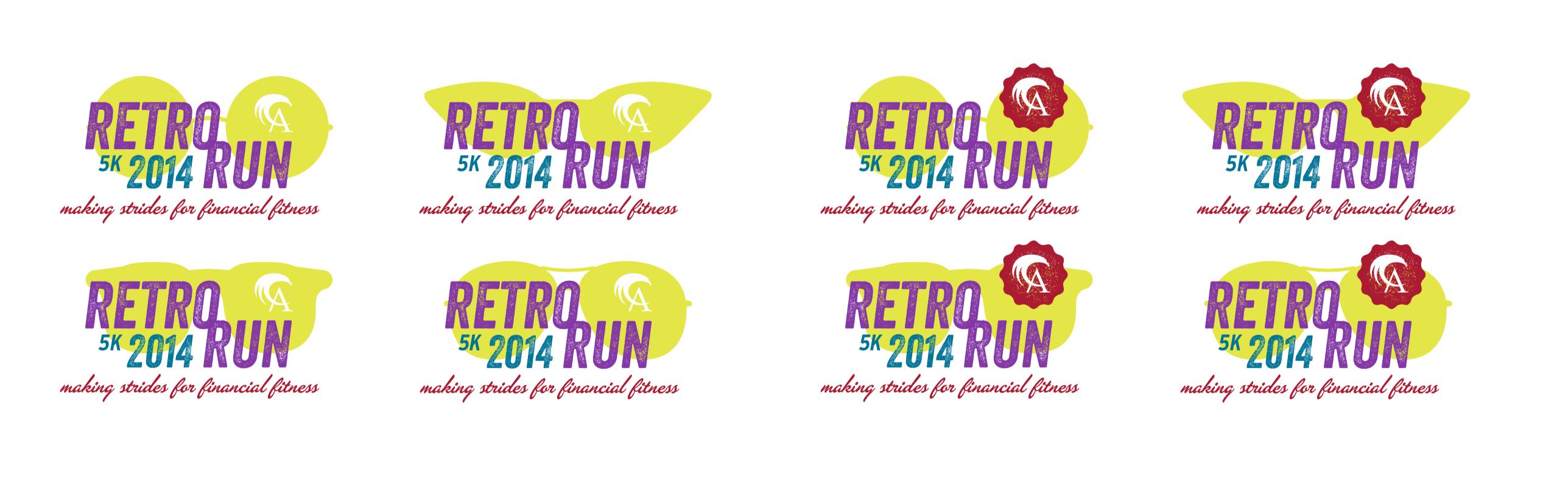Retro Run Logos